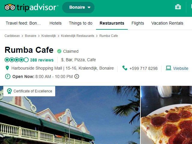 Rumba Cafe, Bonaire