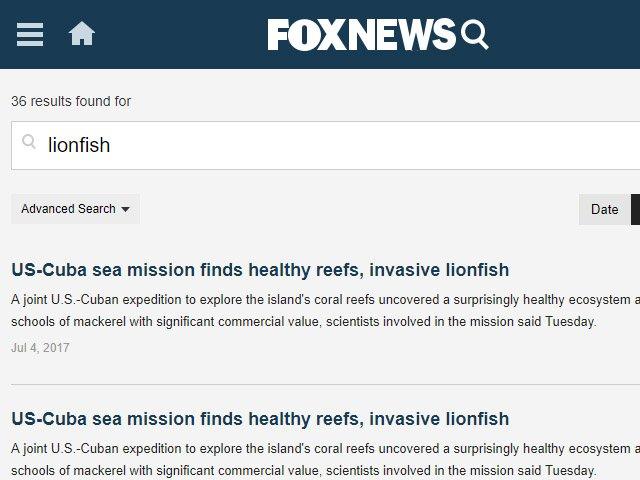 Fox News Lionfish News Articles