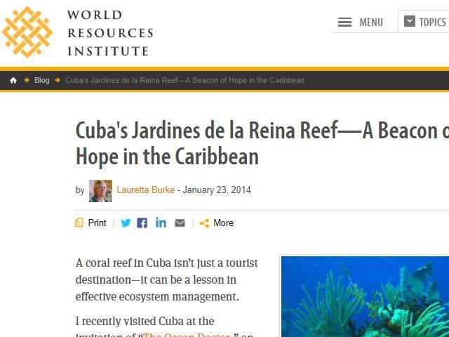 World Resources Institute Lionfish News